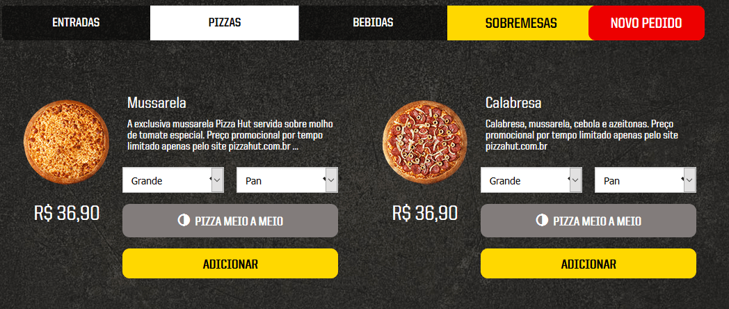 Delivery Pizza Hut Itaquera